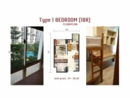 1172-ID scientia residence gading serpong bedroom and layout unit 1 br