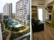 1172-ID scientia residence gading serpong swimming pool and living room